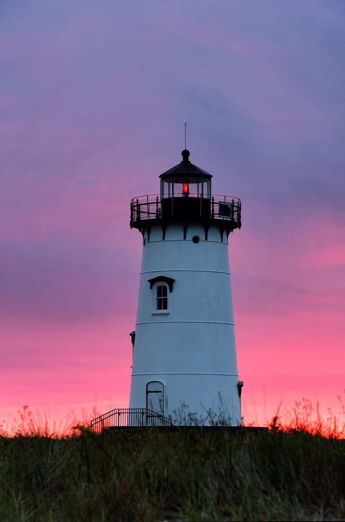 Edgartown Lighthouse, Martha´s Vineyard, Massachusetts, USA : Stock Photo