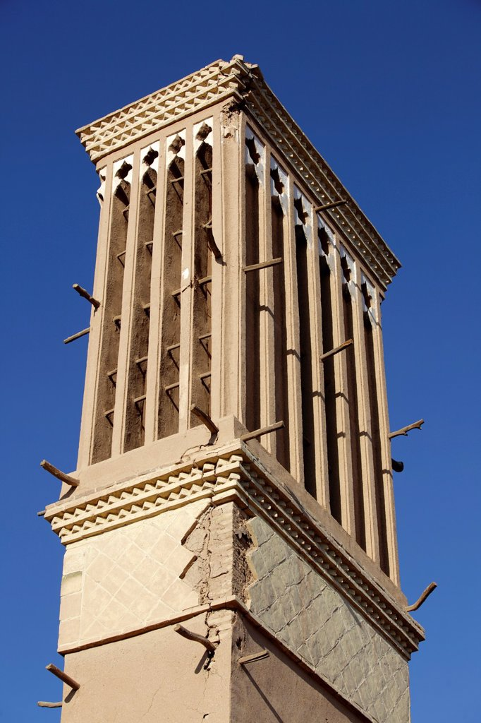 Stock Photo: 1566-1221545 Traditional Windcatcher Badgir, Yazd, Iran