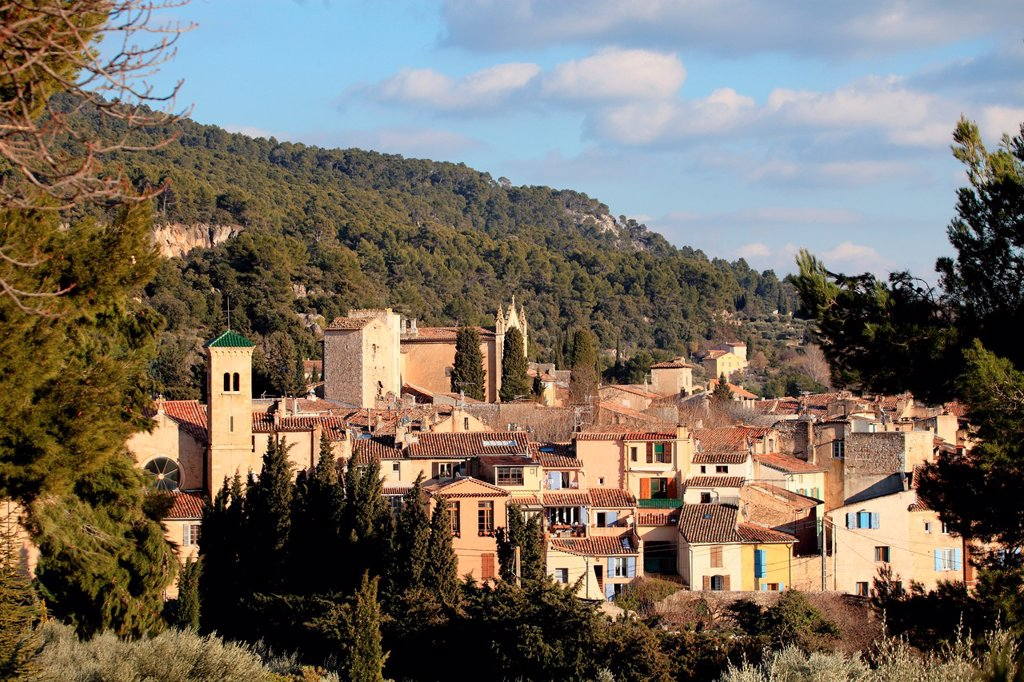 Stock Photo: 1566-1221599 Medieval village of Aups, Var, 83, Provence, PACA, France.