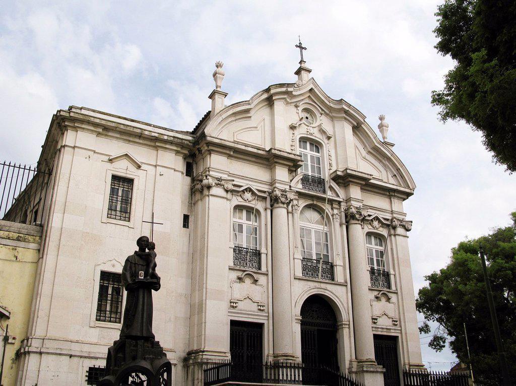 Stock Photo: 1566-1221853 Sant Antonio church at Alfama in Lisbon
