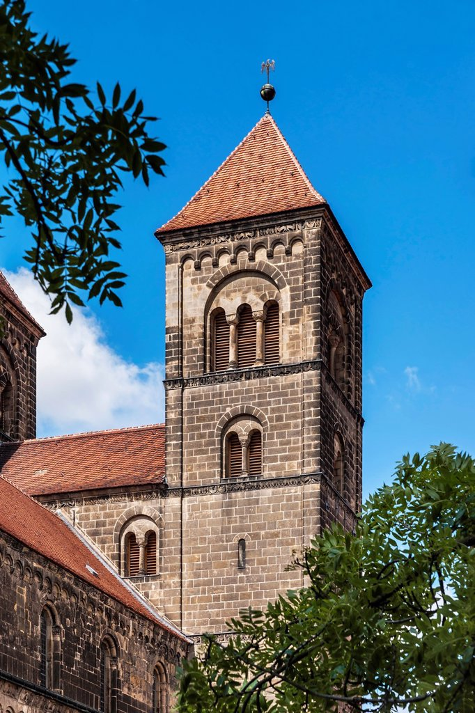 Stock Photo: 1566-1221910 Collegiate Church of St Servatius on the Schlossberg, Quedlinburg, Saxony-Anhalt, Germany, Europe, No Property Release available!