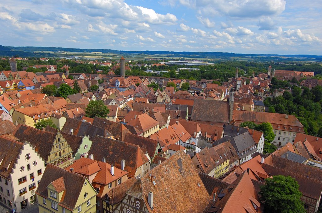 Stock Photo: 1566-1222502 Rothenburg ob der Tauber, Romantic Road, Romantische Strasse, Franconia, Bavaria, Germany, Europe.