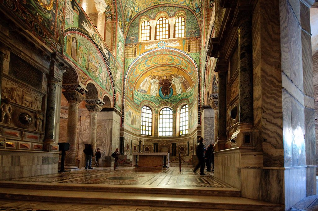 Stock Photo: 1566-1222818 Italy, Emilia Romagna, Ravenna, San Vitale Basilica, Interior View