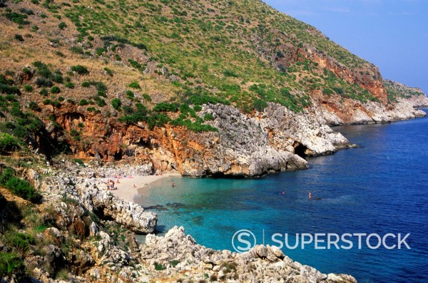 Zingaro nature reserve, Scopello, Trapani province, Sicily, Italy : Stock Photo