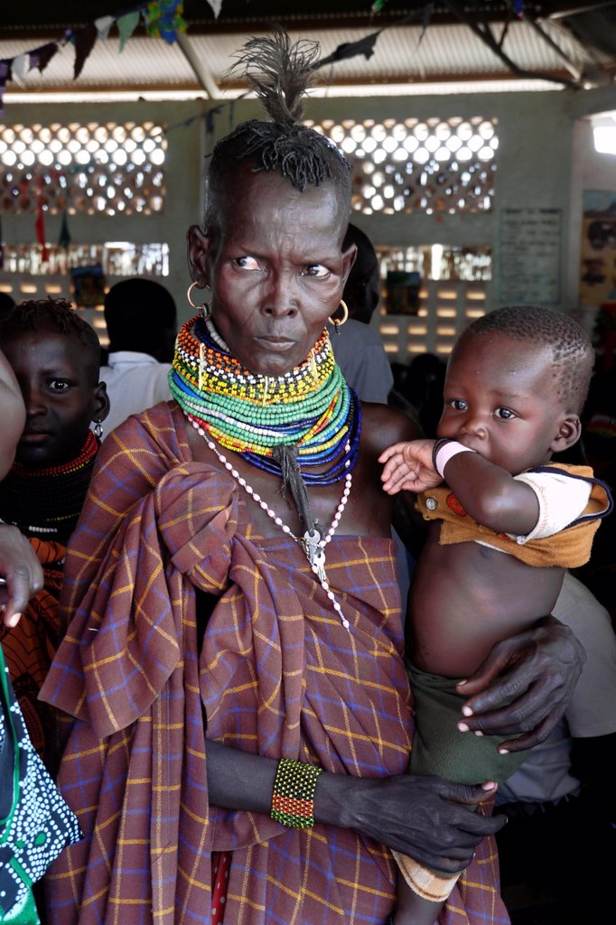 KENYA  Turkana woman and child  Lorugumu, Turkana   photo by Sean Sprague : Stock Photo