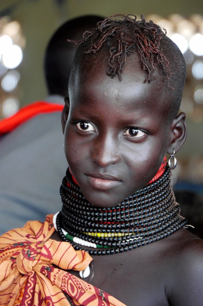 Stock Photo: 1566-1223902 KENYA  Young Turkana tribe beauty of Lorugumu, Turkana   photo by Sean Sprague