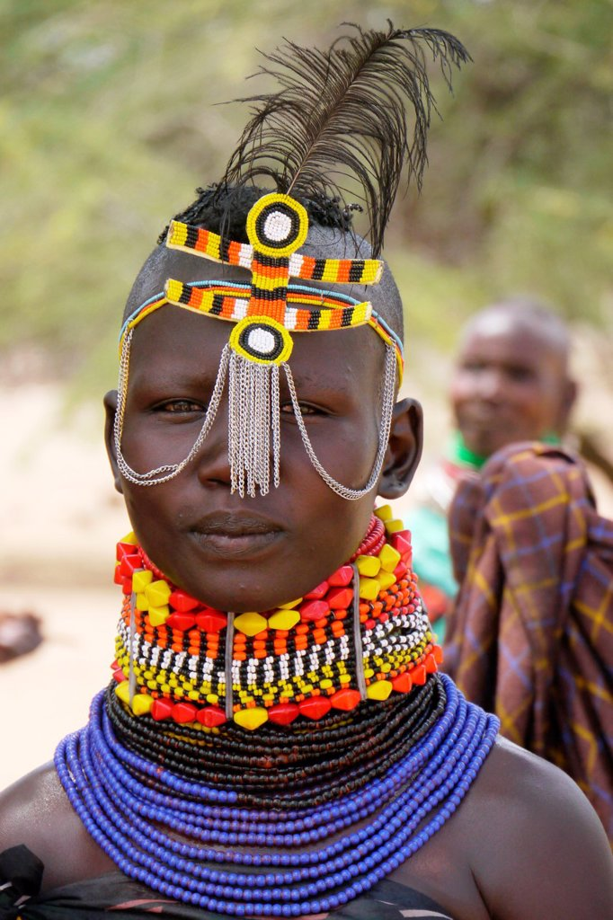 Stock Photo: 1566-1223918 KENYA  Young Turkana tribe beauty of Lorugumu, Turkana   photo by Sean Sprague