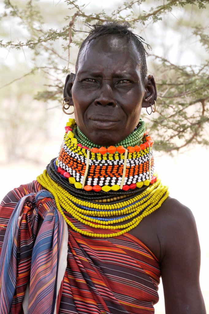 Stock Photo: 1566-1223921 KENYA  Older Turkana tribe beauty of Lorugumu, Turkana   photo by Sean Sprague