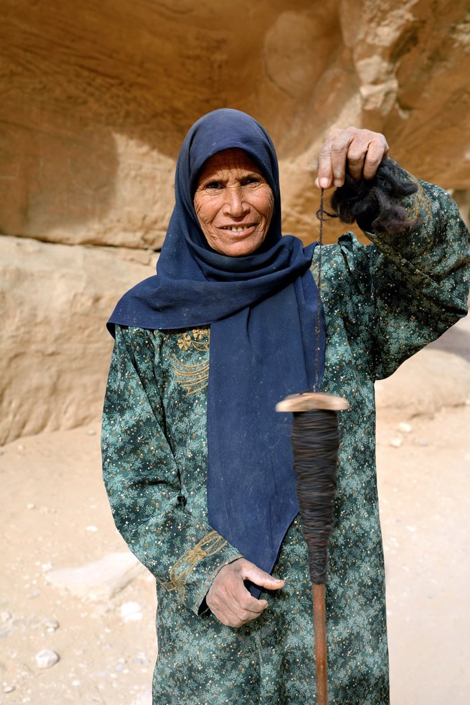 Stock Photo: 1566-1225021 Portrait of an old woman in Wadi Musa, Jordan.