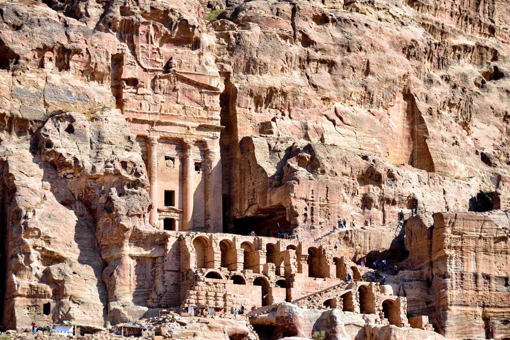 Stock Photo: 1566-1225031 Petra, Jordan  The Royal Tombs.