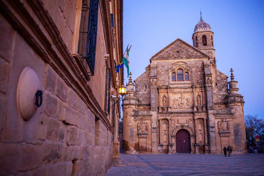Stock Photo: 1566-1227055 Sacra capilla del Salvador,Church of the Salvador 16th century in Plaza de Vázquez Molina, Úbeda  Jaén province  Andalusie  Spain