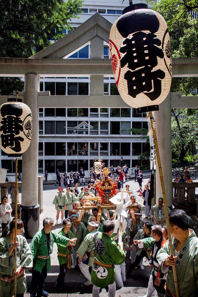 Stock Photo: 1566-1227107 Sanno Matsuri, in HieJinja shrine, Nagata-cho Tokyo city, Japan, Asia
