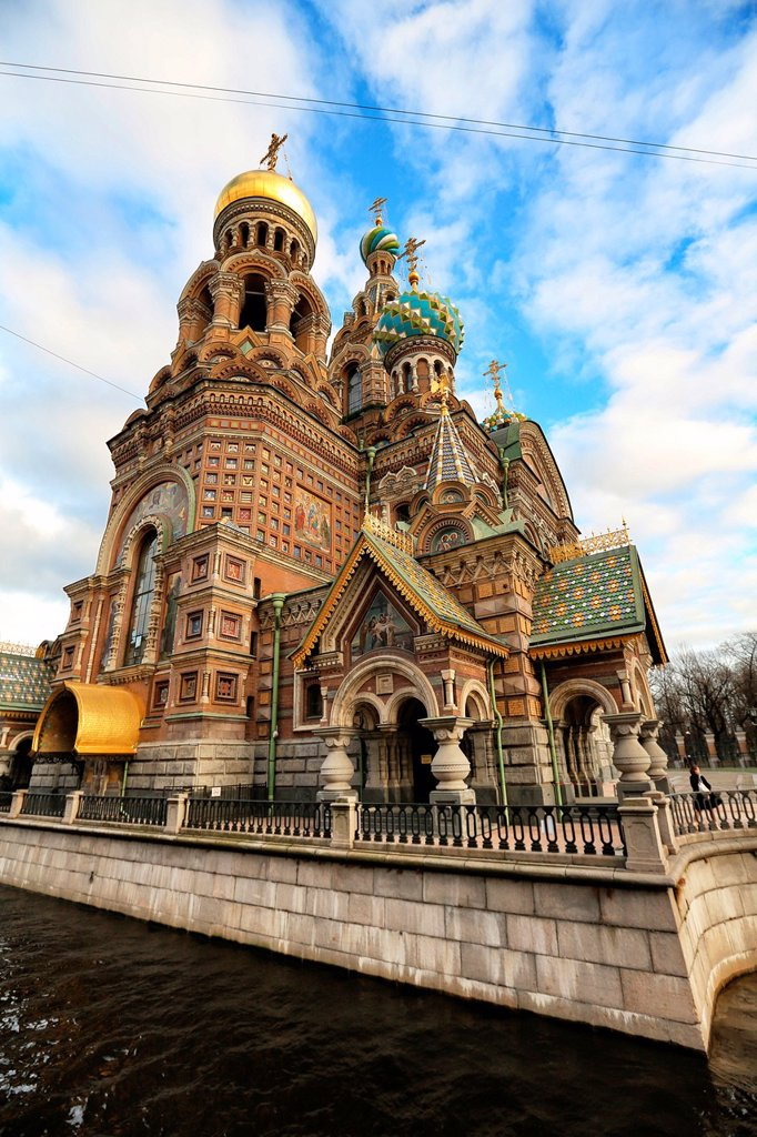 Church of Our Savior on the Spilled Blood St, Saint-Petersburg, Russia : Stock Photo