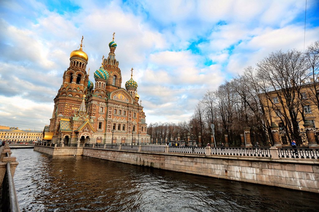 Stock Photo: 1566-1228486 Church of Our Savior on the Spilled Blood St, Saint-Petersburg, Russia