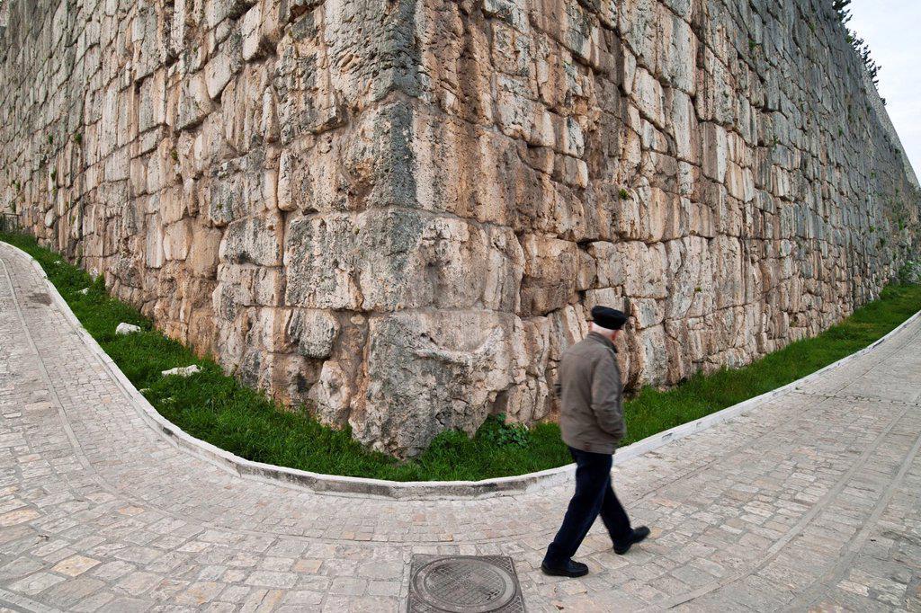 Stock Photo: 1566-1228696 Alatri  Italy  Cyclopean walls encircling the town of Alatri