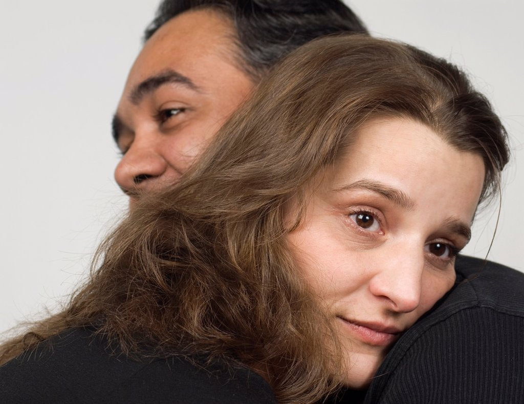 Stock Photo: 1566-1228800 Close-up of mature couple in a hug