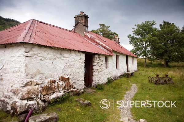 Stock Photo: 1566-1231496 Europe  United Kingdom  Scotland  Argyll & The Isles  Auchindrain  Auchindrain Folk Museum
