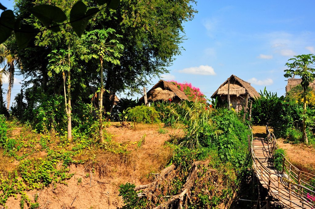 Bouy Guest House, Sangkhom, Isaan Region, Thailand : Stock Photo