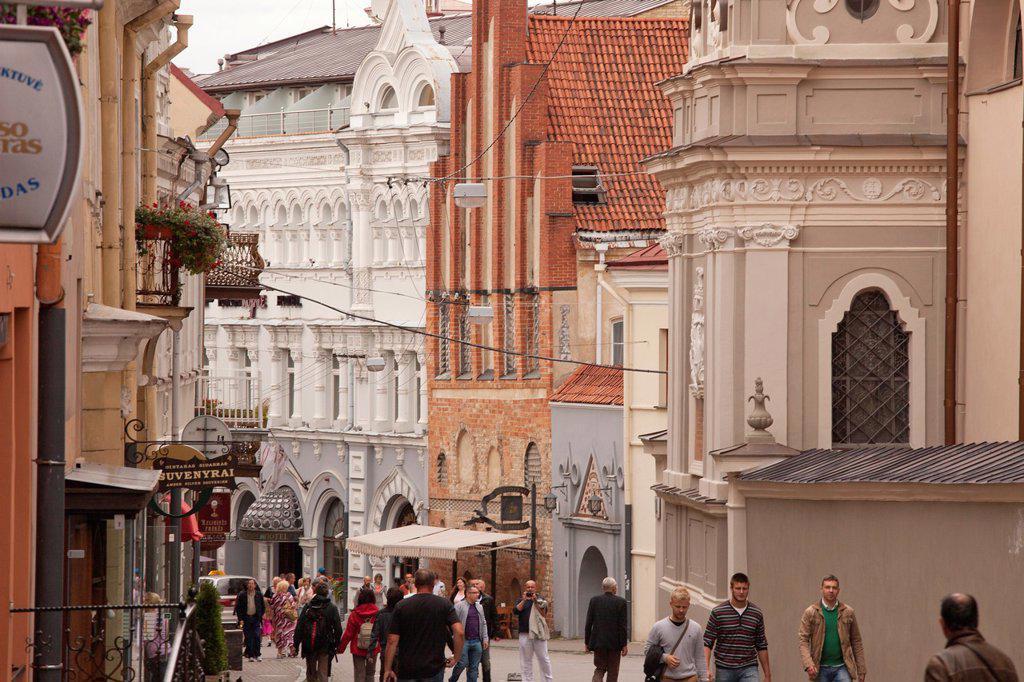 Stock Photo: 1566-1235614 Vilnius  Ausros Vertu Street  Ostrobramska street  Old Town