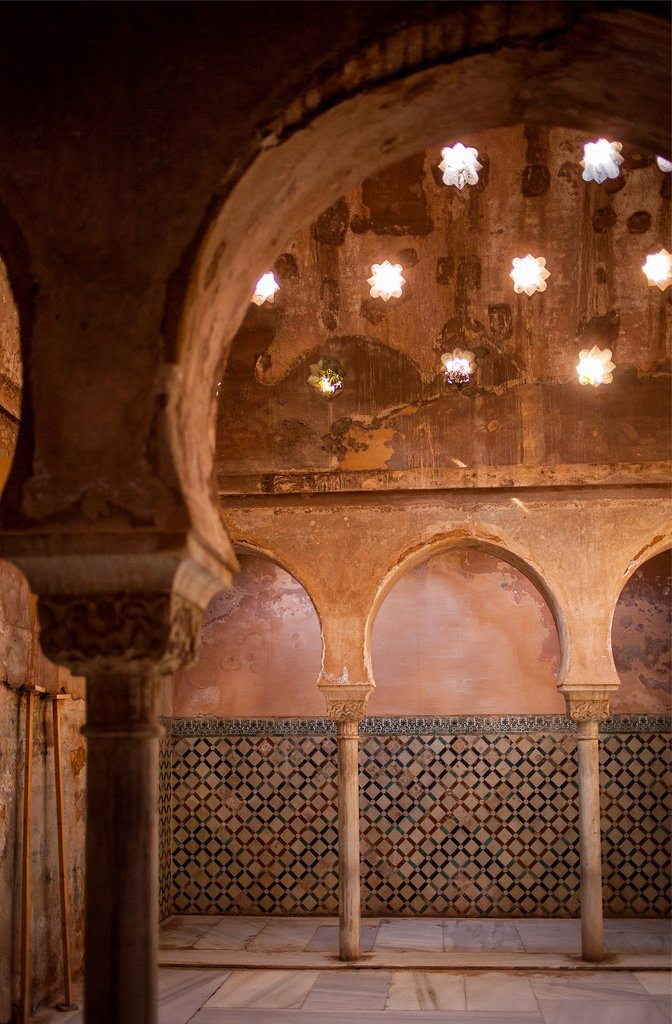 Stock Photo: 1566-1235961 Royal baths, Palacio de Comares, Alhambra  Granada, Andalucia, Spain