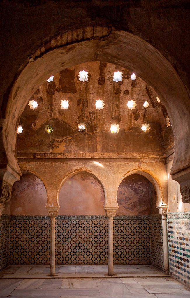 Stock Photo: 1566-1235964 Royal baths, Palacio de Comares, Alhambra  Granada, Andalucia, Spain