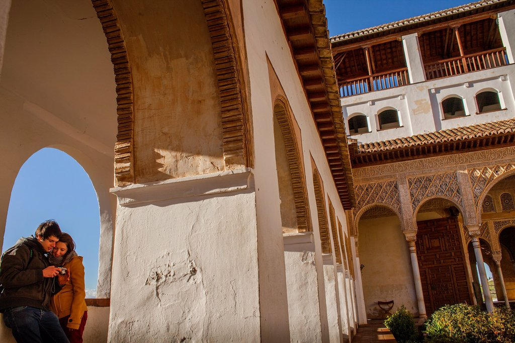 Stock Photo: 1566-1236028 Patio de la Acequia courtyard of irrigation ditch  El Generalife  La Alhambra  Granada  Andalusia