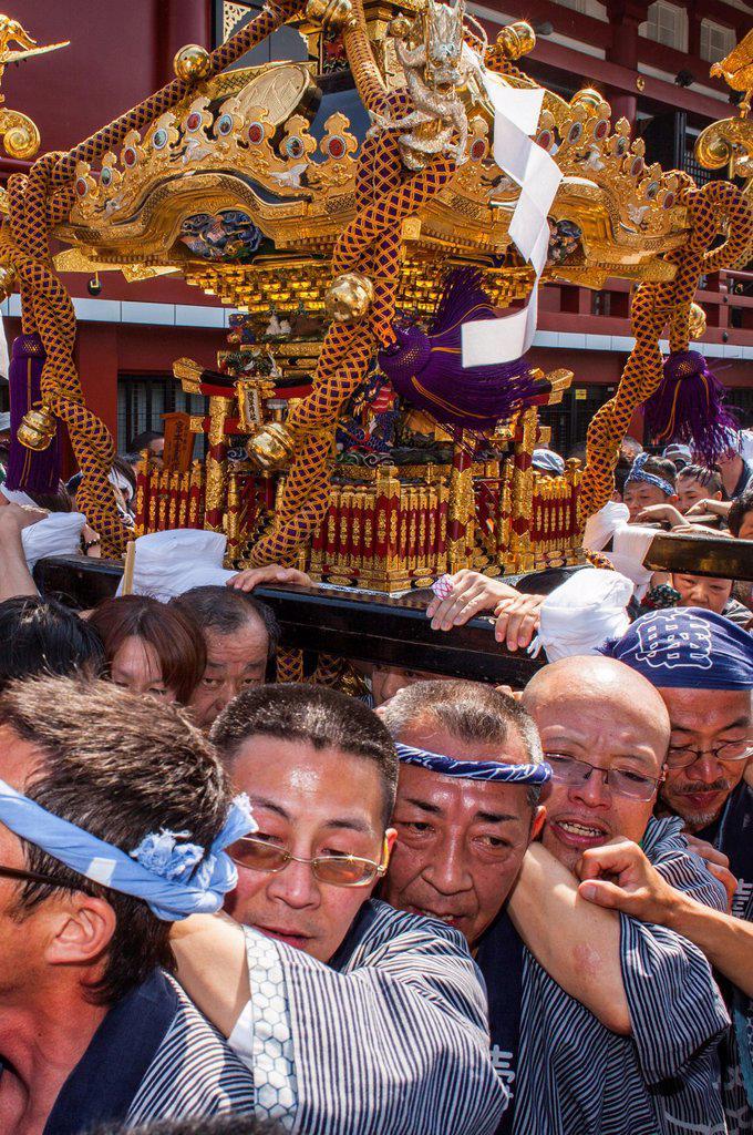 Stock Photo: 1566-1236087 Sanja Matsuri Festival, Sensoji Temple, Asakusa Jinja, Asakusa, Tokyo, Japan, Asia
