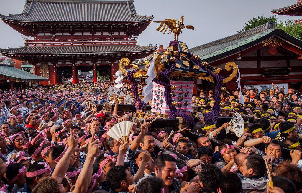 Stock Photo: 1566-1236097 Sanja Matsuri Festival, Sensoji Temple, Asakusa Jinja, Asakusa, Tokyo, Japan, Asia