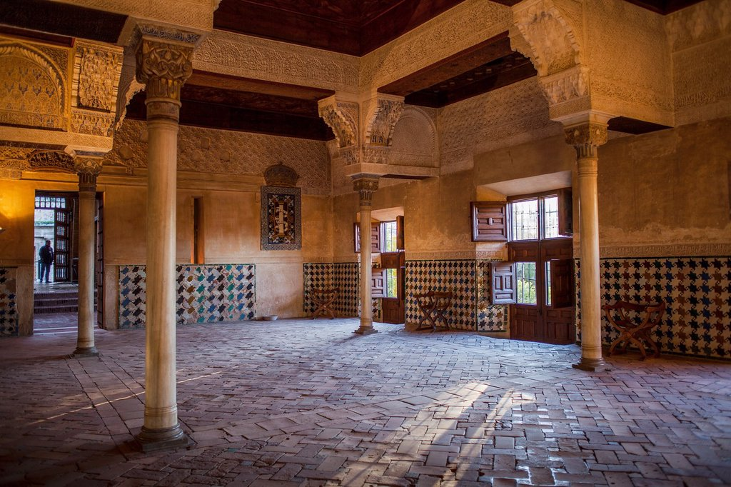 Mexuar Hall Mexuar Nazaries palaces Alhambra, Granada  Andalusia, Spain : Stock Photo