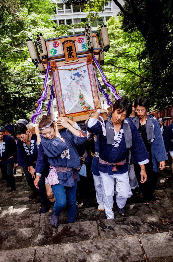Stock Photo: 1566-1236241 Sanno Matsuri, in HieJinja shrine, Nagata-cho Tokyo city, Japan, Asia