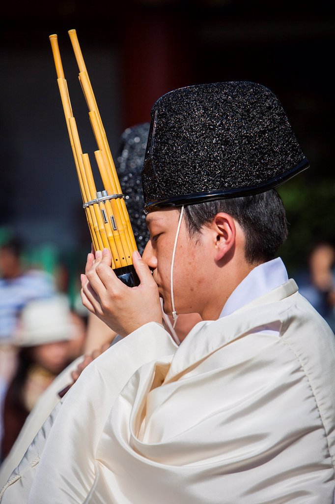 Stock Photo: 1566-1236284 Sanno Oharai and Chinka-sai purification ceremony during Sanno Matsuri, in HieJinja shrine, Nagata-cho Tokyo city, Japan, Asia