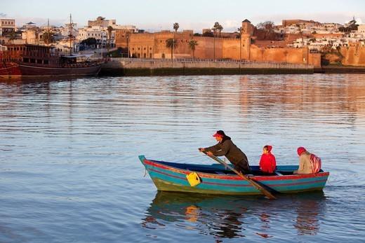 Fishing boats on the Bouregreg river. Rabat. Morocco. Africa. : Stock Photo