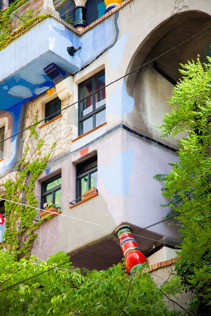 Stock Photo: 1566-1239230 Building designed by Hundertwasser, Hundertwasserhaus, Vienna, Austria, Europe