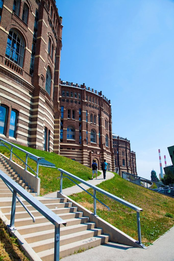 Gasometer City in the Simmering district, Vienna, Austria, Europe : Stock Photo