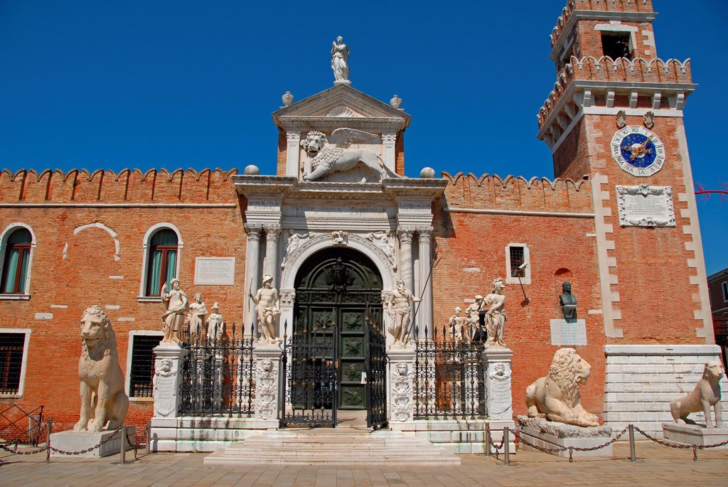 Stock Photo: 1566-1244062 Porta di Terra de l´Arsenale  Campo dell´Arsenale  Castello  Venice, Veneto, italy, Europe.