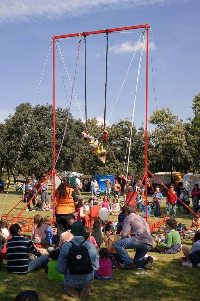 Stock Photo: 1566-1247585 Playground, Alamillo´s Park, Seville, Spain