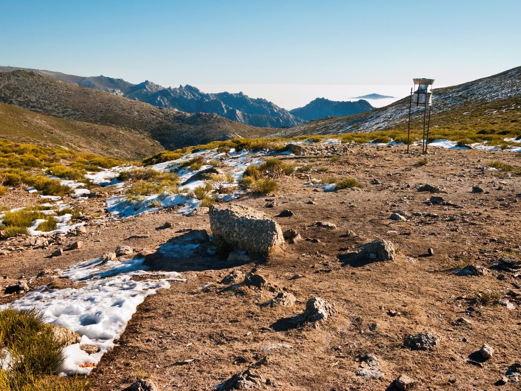 Piornal pass  Sierra de Guadarrama  Madrid  Spain : Stock Photo
