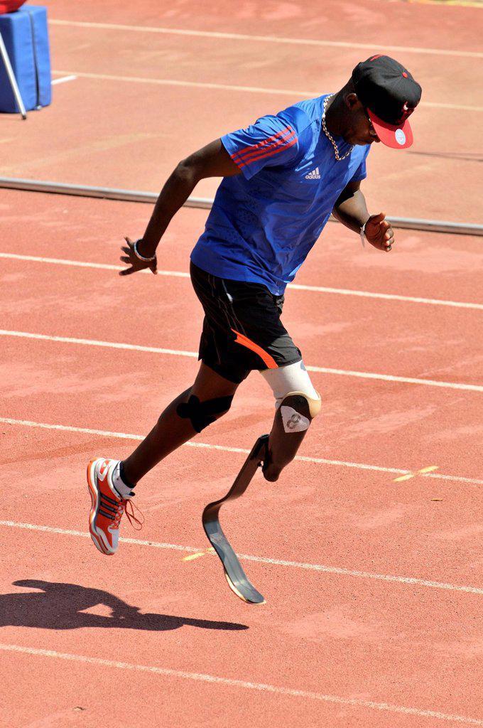 Stock Photo: 1566-1251697 Handicapped athlete