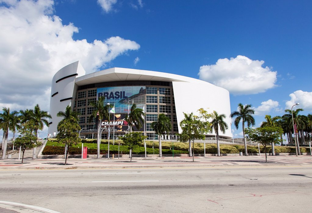 The American Airlines Arena, Miami, USA : Stock Photo