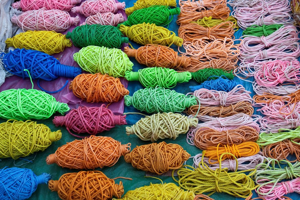 Market Scene, Mapusa Market, Goa, India : Stock Photo