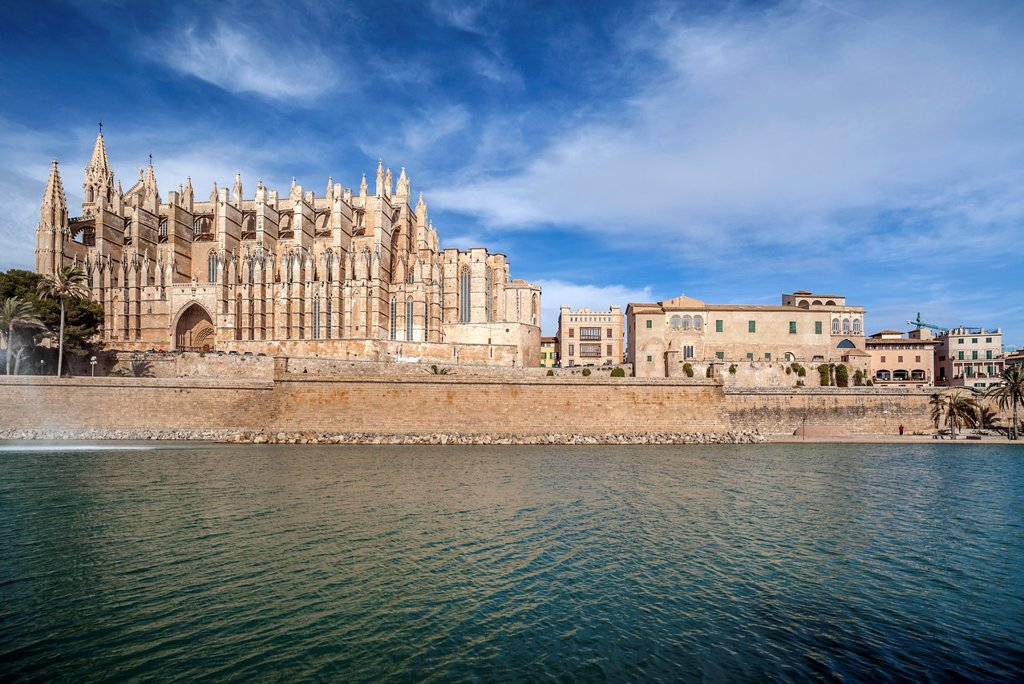 Stock Photo: 1566-1252674 palma de mallorca,balearic islands,spain cathedral