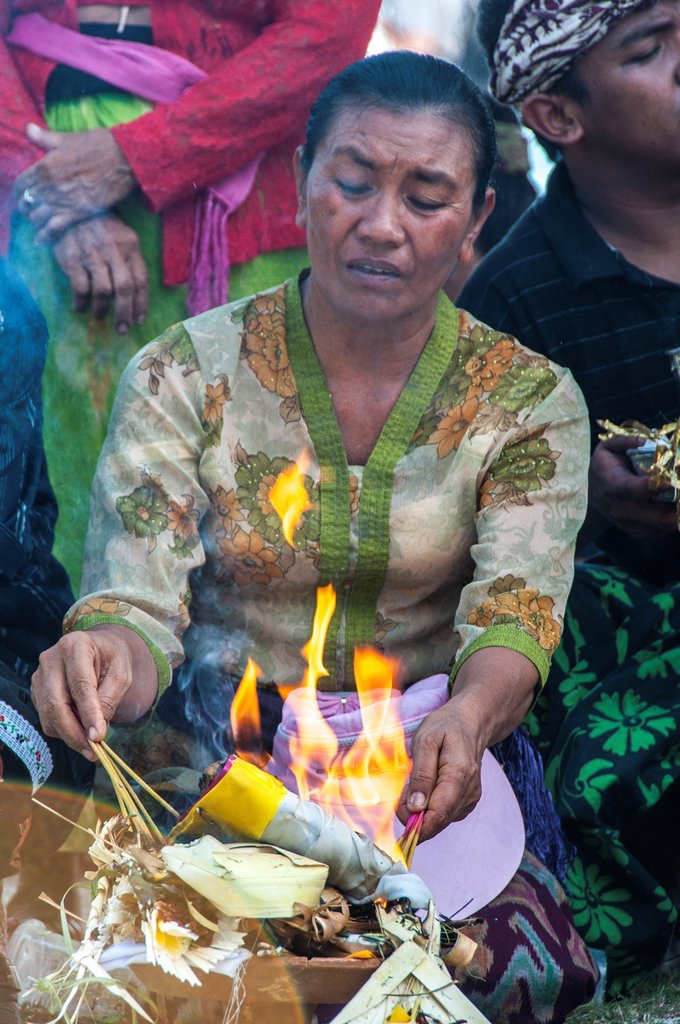 Stock Photo: 1566-1253418 Asia, South-East Asia, Indonesia, Bali. Ritual of cremation ceremony.