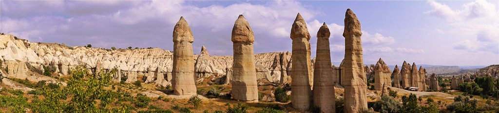 Stock Photo: 1566-1254455 Turkey-Cappadocia- Fairy Chimneys rock formation nearby Göreme.