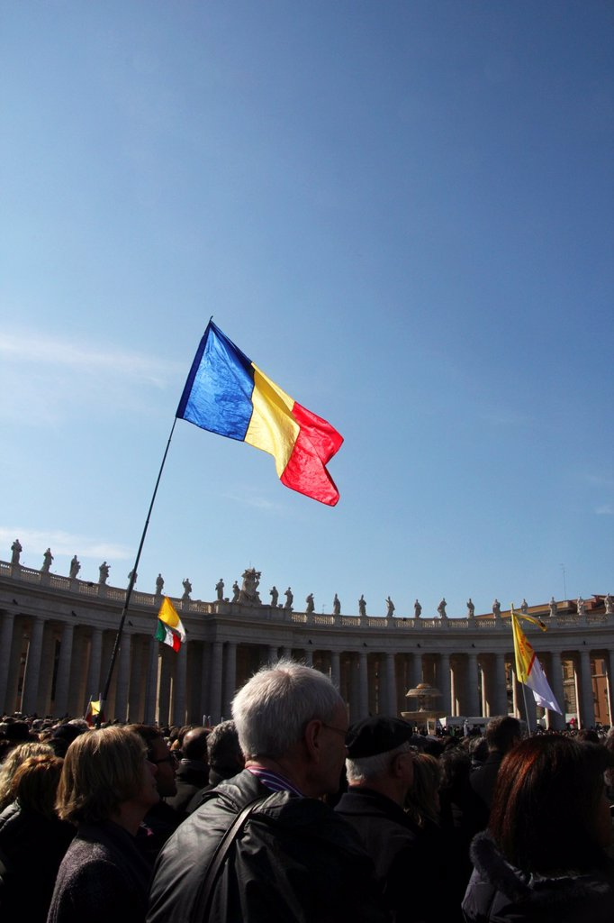 27 Feb 2013 Pope Benedict XVI final General Audience in Saint Peter´s Square, Vatican City, Rome : Stock Photo