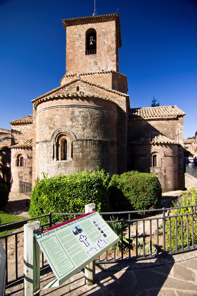 Stock Photo: 1566-1261191 Romanesque monastery of Santa Maria - L´Estany - Bages - Barcelona - Catalonia - Spain - Europe