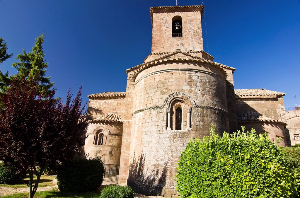 Stock Photo: 1566-1261194 Romanesque monastery of Santa Maria - L´Estany - Bages - Barcelona - Catalonia - Spain - Europe