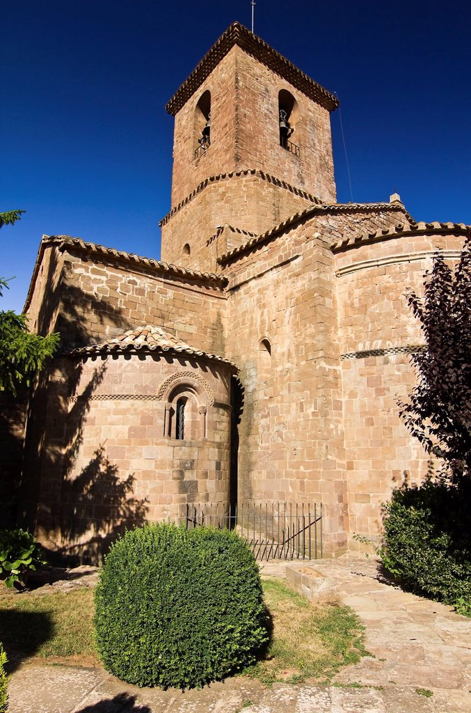 Romanesque monastery of Santa Maria - L´Estany - Bages - Barcelona - Catalonia - Spain - Europe : Stock Photo