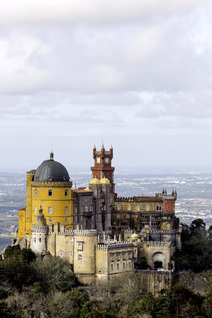 Pena Palace, Sintra Natural Park, Portugal, Europe : Stock Photo