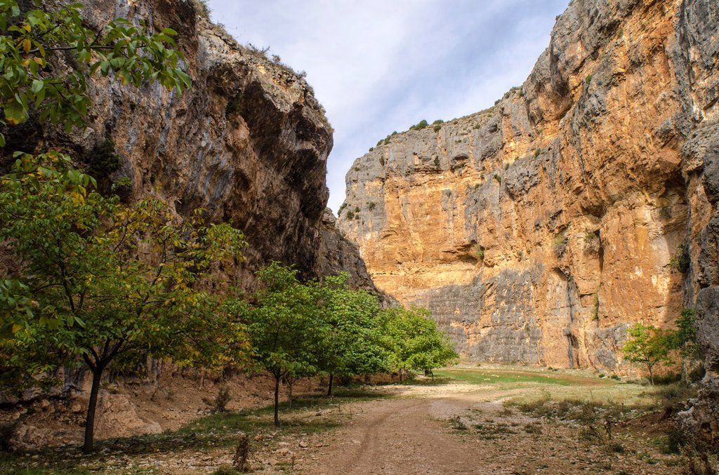 Rio Mesa canyon, Jaraba, Calatayud, Aragon, Spain : Stock Photo