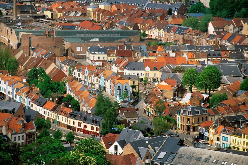 neighbourhood of St-Leu, Amiens, Somme department, Picardy region, France, Europe : Stock Photo